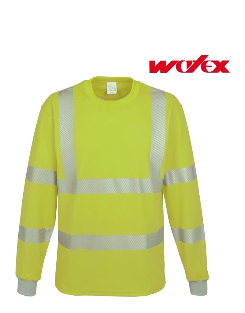 Watex 5-3320 Gelb - Warn-T-Shirt Langarm