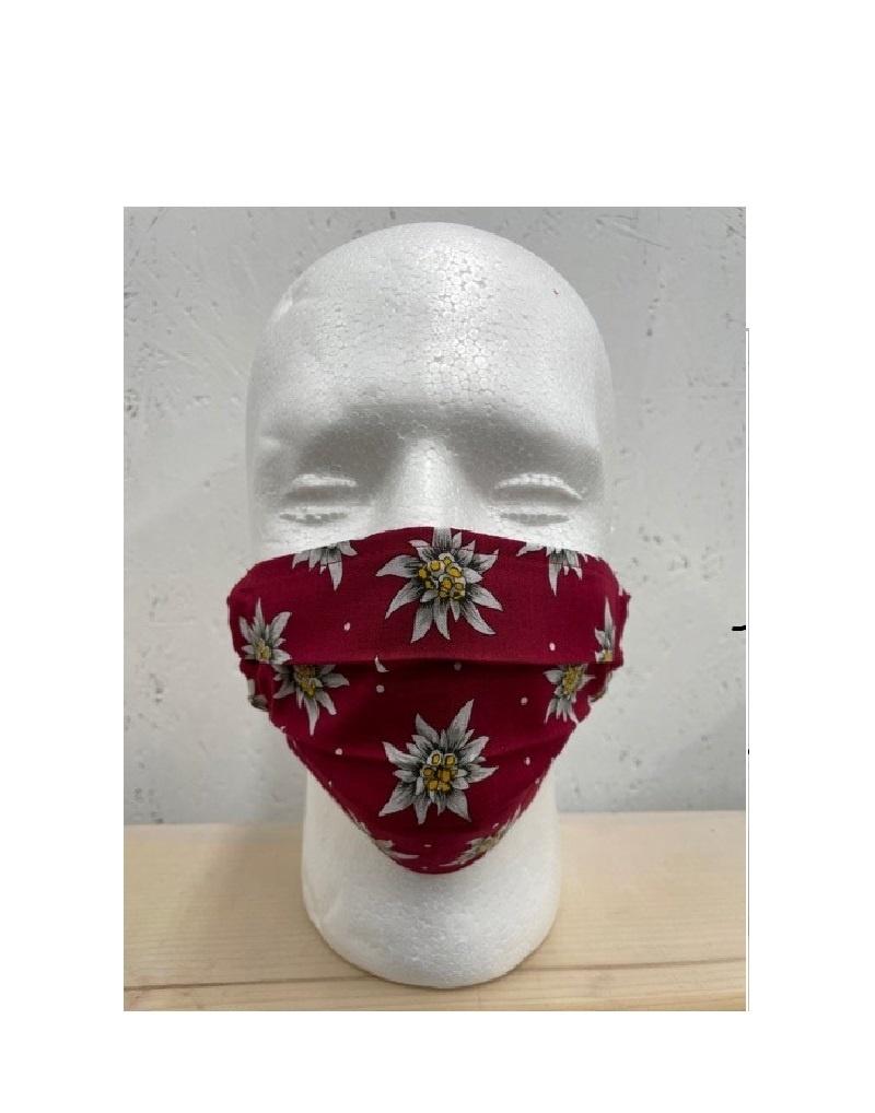 Kneuss Kleider 84.109 -  Gesichtsmaske Edelweiss bordeaux