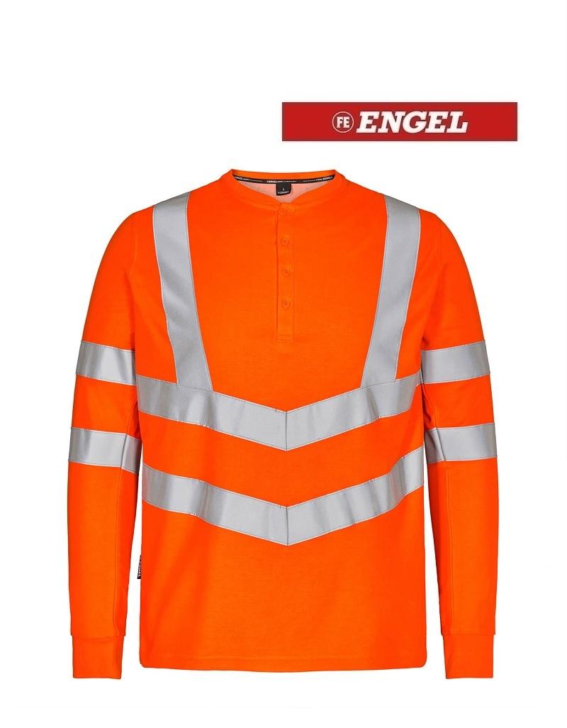 Engel FE9548.10.S.K - T-Shirt Langarm, EN 20471 Kl. 3, orange