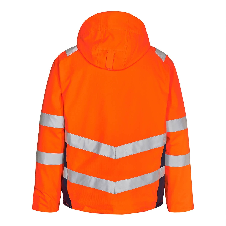 Engel FE1946.10165.S.K -  Safety Winter-Jacke, Orange mit Blue Ink
