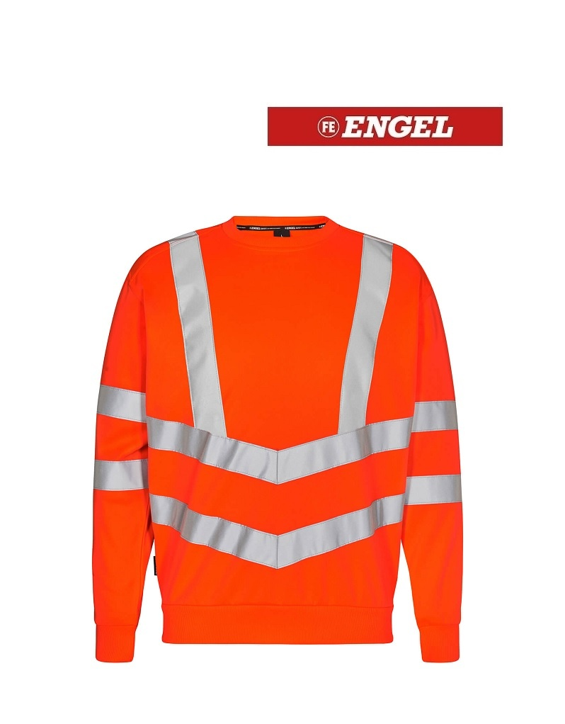 Engel FE8021.10.S -  Rundhals Pullover, Sweatshirt Orange von Engel