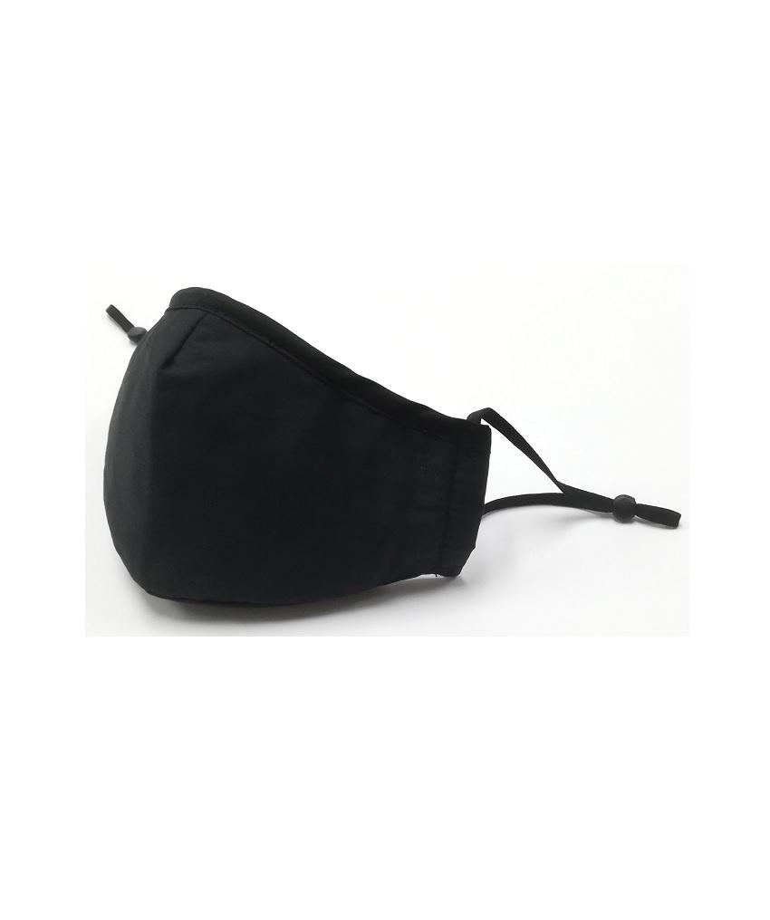 FO Black - Stoffmaske aus Baumwolle mit einem Filter