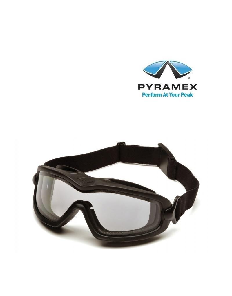 Pyramex EGB6410SDT - Vollsichtbrille mit Polykarbonat-Acetat-Doppelscheibe