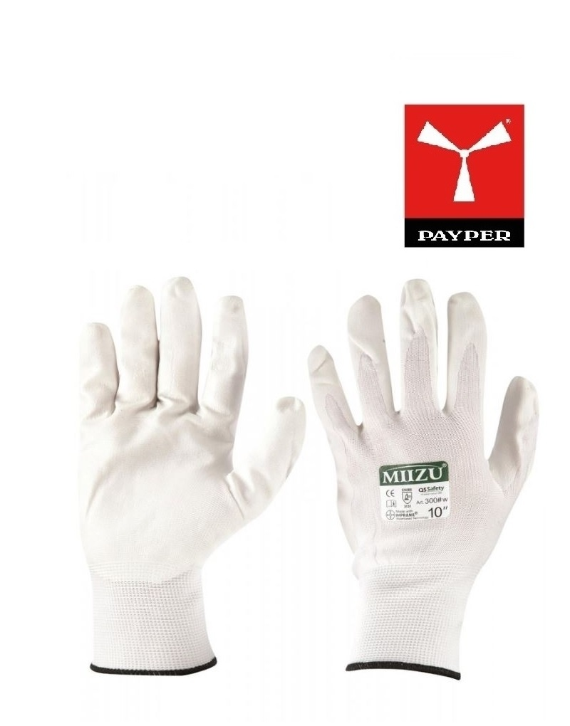 Payper Miizu300 weiss Handschuhe - Handschuhe mit PU-Beschichtung auf Wasserbasis