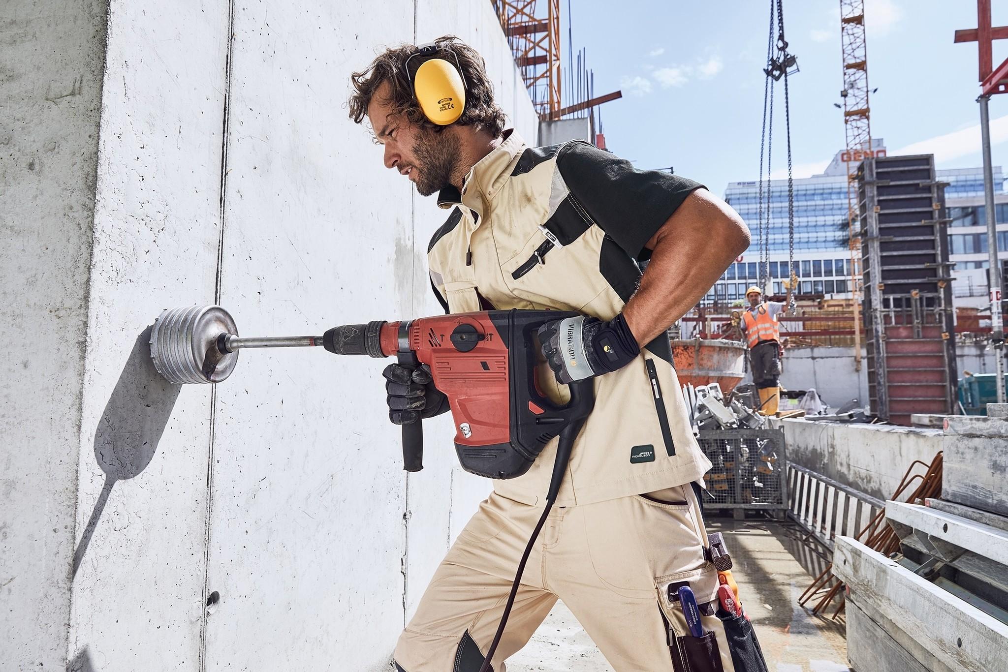 James Nicholson JN822 Navy  Robuste Arbeitsweste  mit vielen Taschen und CORDURA® Verstärkung