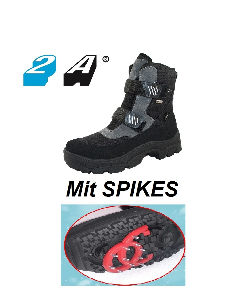 Eskimo Herren - Winterschuh mit ausklappbaren Spikes