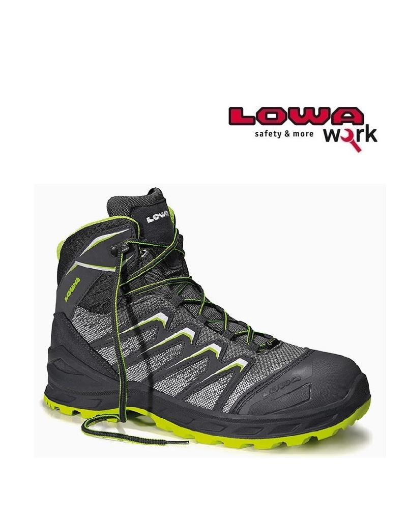Lowa Work LarroxWorkMidGrey S3- Sicherheitsschuh von LOWA