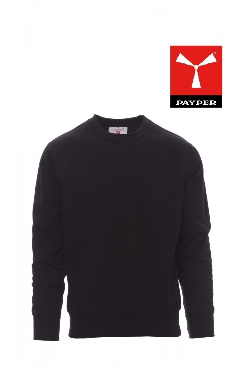 Payper Orlando Schwarz - Pullover - Herren-Sweatshirt mit Rundhalsausschnitt