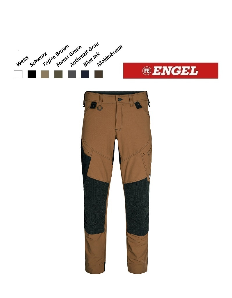 Engel FE2366.41.S- Arbeitshose - X-Treme Stretchose, Toffee Brown