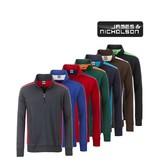 James Nicholson Workwear Half-Zip Sweat