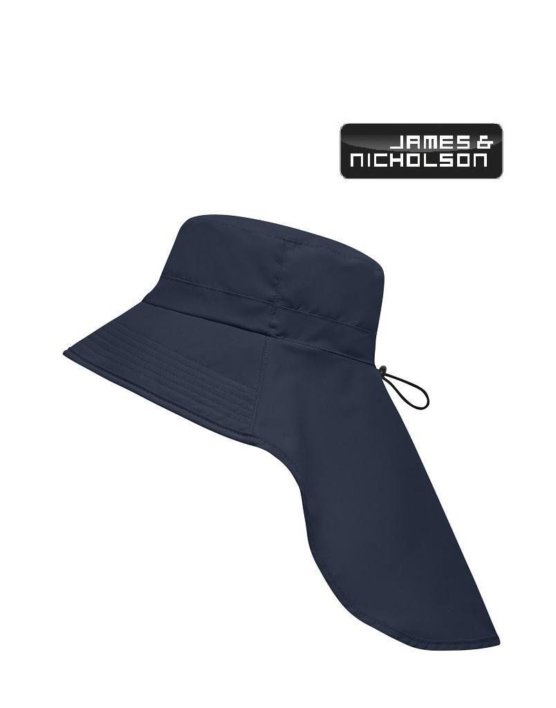 James Nicholson MB6242 navy Funktionaler Hut mit extra langem Nackenschutz