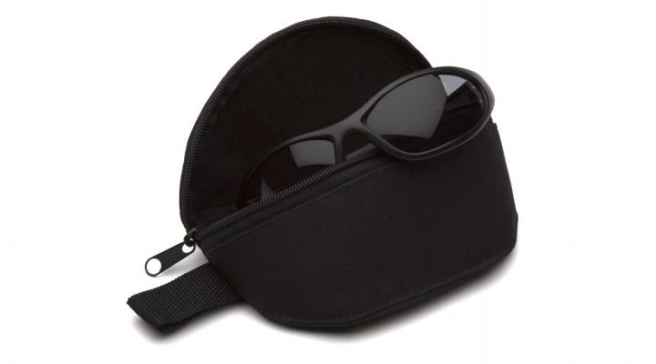 Pyramex CA200B - weich gepolstertes Brillenetui aus robustem schwarzem Textilmaterial