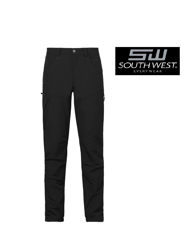 South West 905.95 schwarz  - Herren-Arbeitshose Wiggo-5-Pocket, Stretch von South West