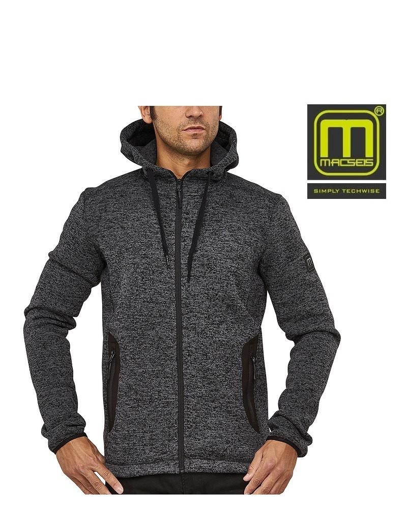 "Macseis MS26003 - Strickjacke ""RIPTIDE LIGHT"" MACSEIS® grau/melange"