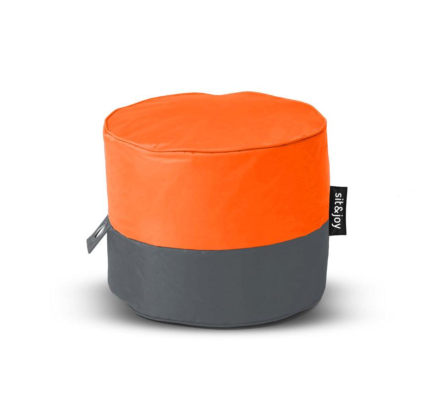 Rondo Oranje Poef/Zitzak