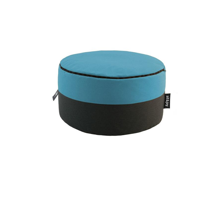 Duo Rondo Extra - Mint blauw - Poef/Zitzak
