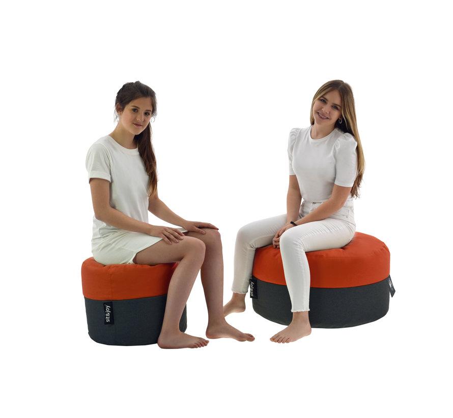 Duo Rondo Medium- Terracotta - Poef/Zitzak