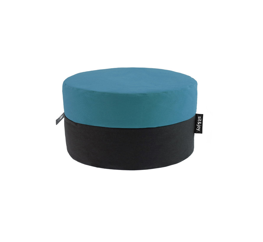 Duo Rondo Medium- Mint Blauw - Poef - Zitzak