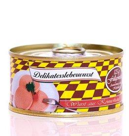 Metzgerei Metzler Delikatess Leberwurst,  Schwein 125g