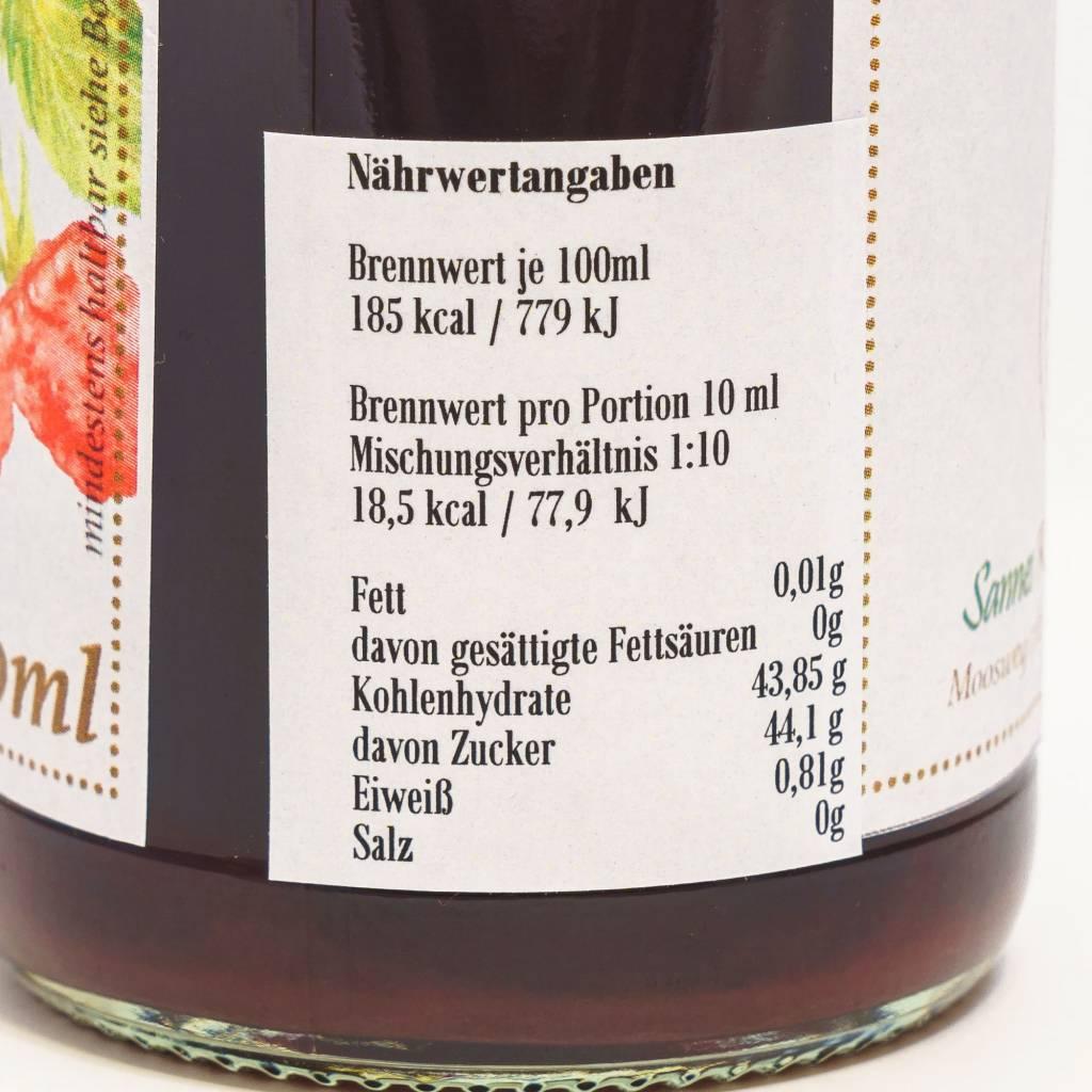 Sannes Kräuter-Küche Himbeer Sirup 330ml