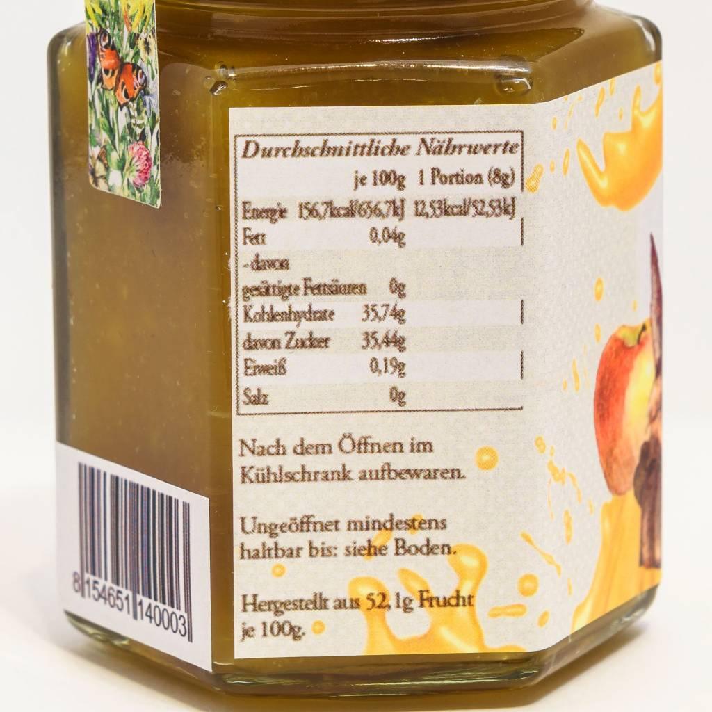 Sannes Kräuter-Küche Apfel Karamell Gsälz 200g