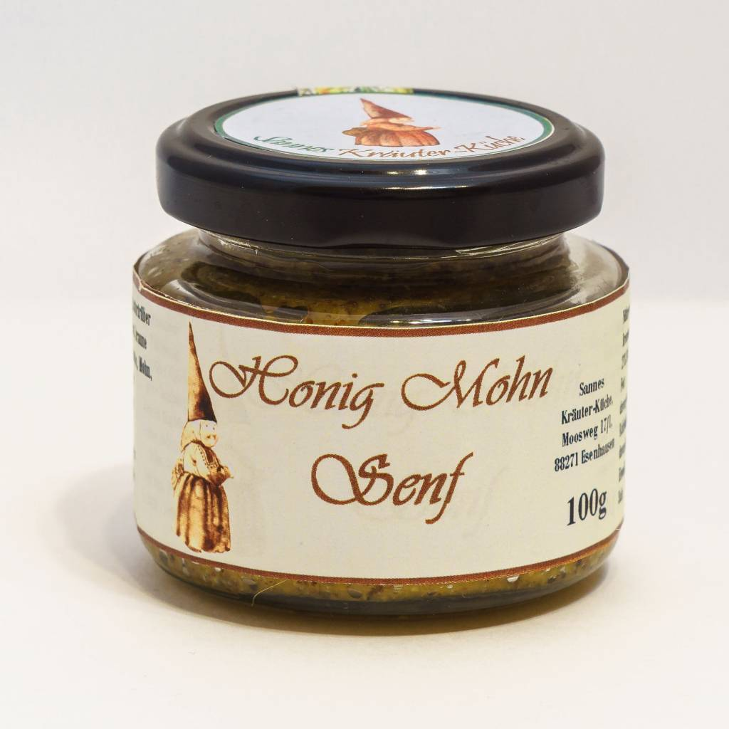 Sannes Kräuter-Küche Honig-Mohn Senf 100g