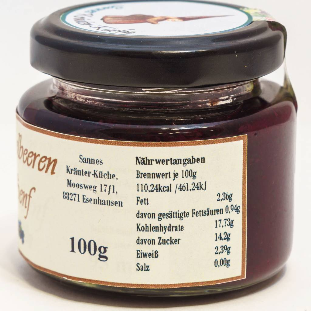 Sannes Kräuter-Küche Heidelbeeren Senf 100g