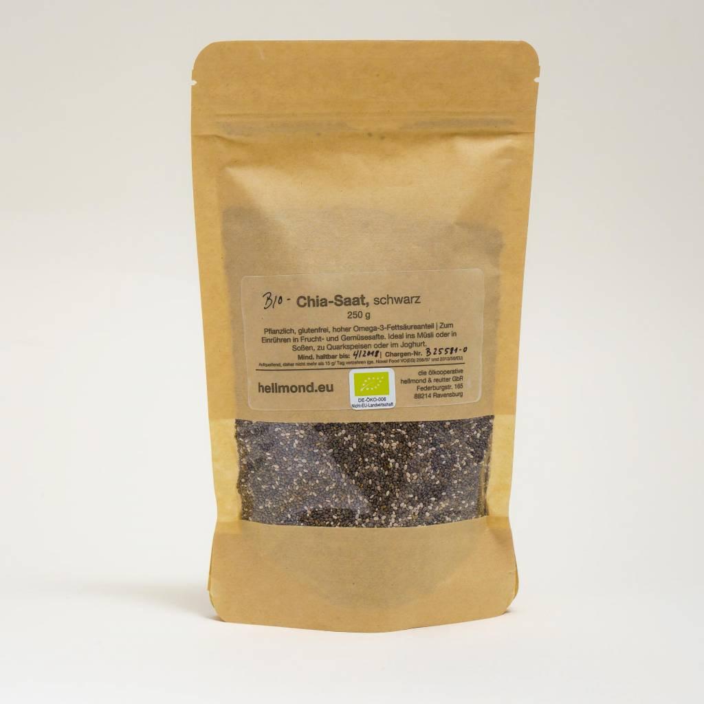 Hellmond - Die Ölkooperative Chia-Saat (ganze Samen) 250 gramm
