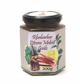 Sannes Kräuter-Küche Rhabarber Zitrone Melisse Gsälz 200g