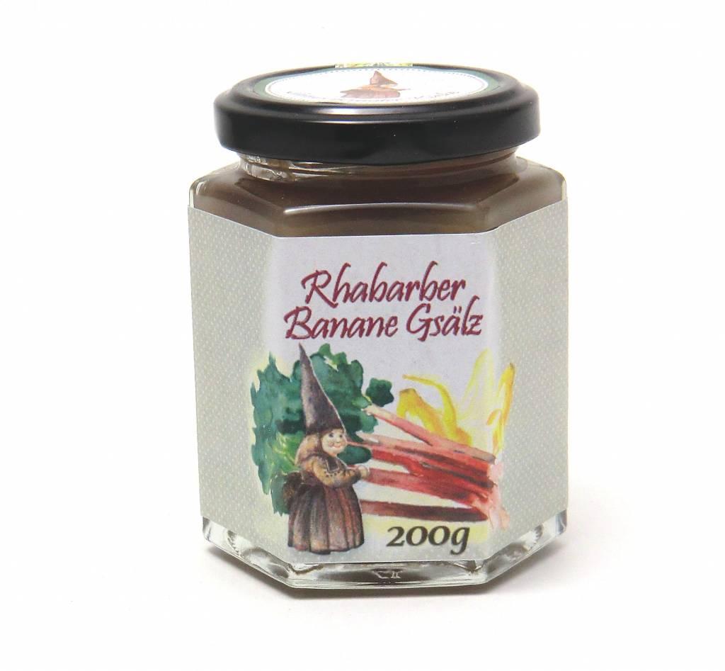 Sannes Kräuter-Küche Rhabarber Banane Gsälz 200g