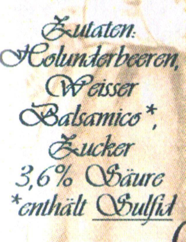 Sannes Kräuter-Küche Holunder Essig 250 ml