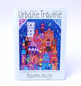 Städtebilder - Urbane Träume Notitzheft Ravensburg , unliniert, A