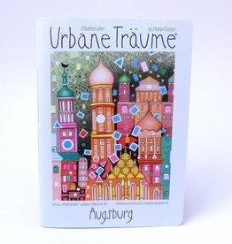 Städtebilder - Urbane Träume Notitzheft Augsburg, unliniert, A5