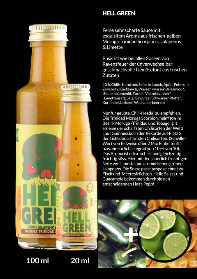 Ravensfeuer - Feuriges aus Ravensburg Hell Green Chili Sauce  20ml
