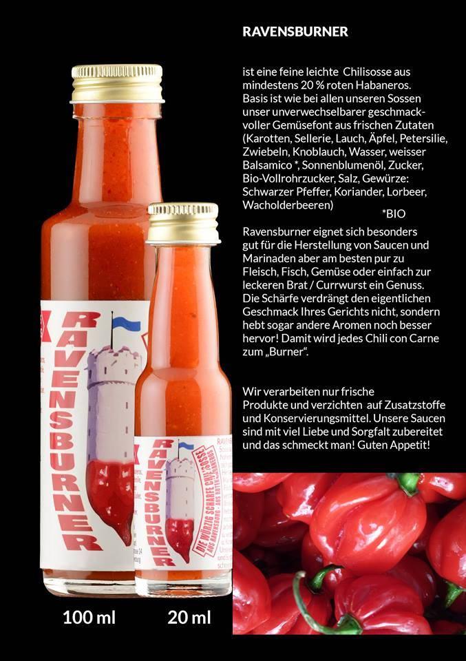 Ravensfeuer - Feuriges aus Ravensburg Ravensburner Chili Sauce 100ml
