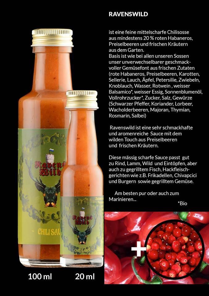 Ravensfeuer - Feuriges aus Ravensburg Ravenswild  Chili Sauce 20ml
