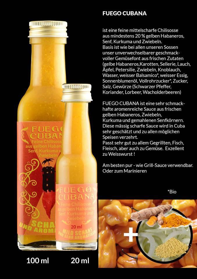 Ravensfeuer - Feuriges aus Ravensburg Fuego Cubana Sauce 20ml