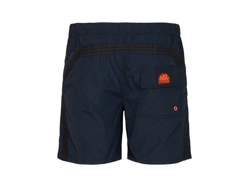Sundek Zwembroek.Long Length Swim Shorts With Rainbow Logo Best Of Beachwear