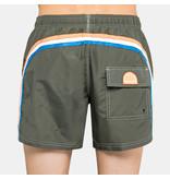 "Sundek M504  9.5""Jungens  Swim Shorts with Rainbow Logo"