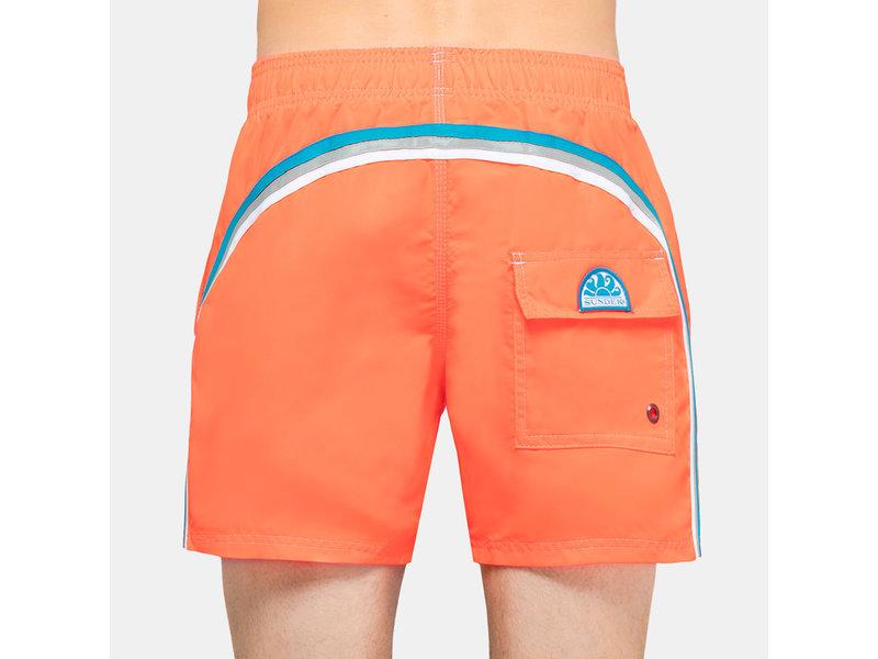 "Sundek M504  9.5"" Kids Swim Shorts with Rainbow Logo"