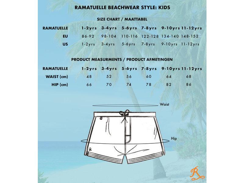 Ramatuelle Magic print Zwembroek  Kids - Print wordt zichtbaar zodra de stof nat wordt.