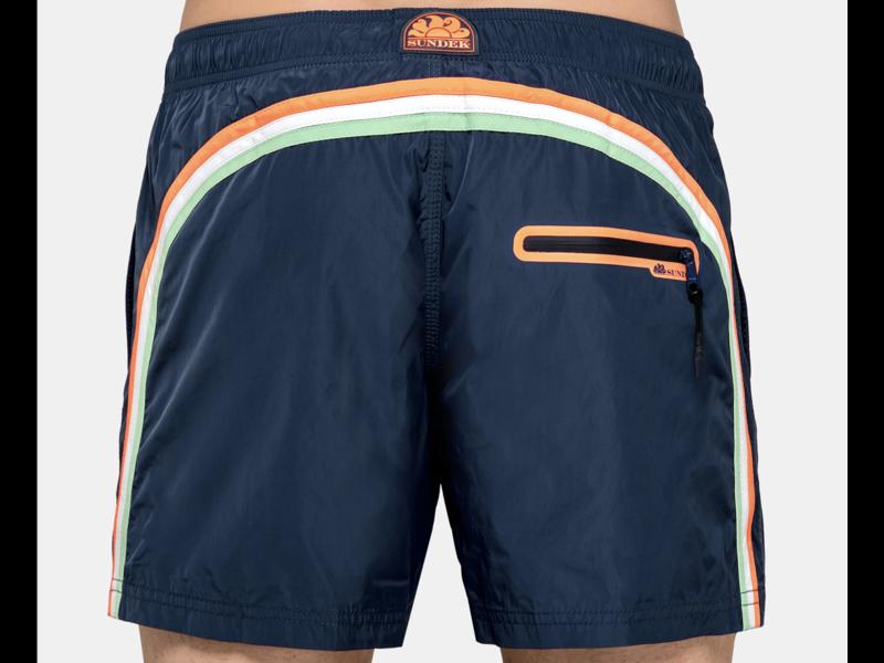 "Sundek M552 14""Mid Length Swim Shorts with Rainbow Logo"