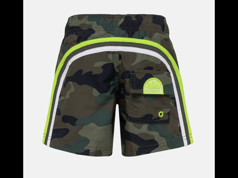 "Sundek M504  9.5"" Jongens  Swim Shorts with Rainbow Logo"
