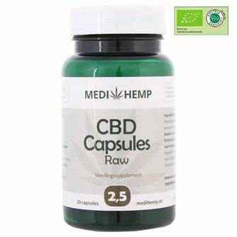CBD capsules 2,5% MediHemp 12,5 mg (RAW/ BIO)