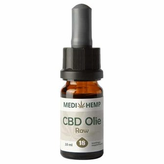 CBD olie RAW 18% MediHemp (RAW/ BIO)
