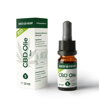 CBD Olie 5%, 10 ml MediHemp (RAW/ BIO)