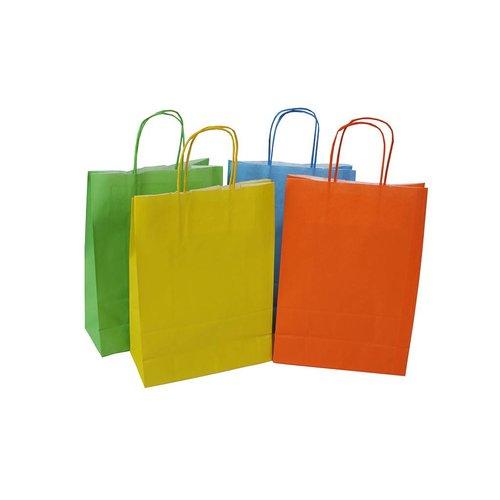 Mixdoos gekleurde papieren tas 22+10x31 cm