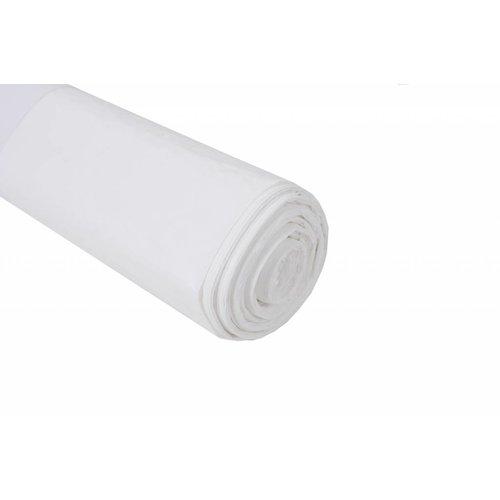 Plastic zak 70x110 cm wit - per doos van 300 stuks