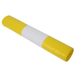 Plastic zak 70x110 cm geel