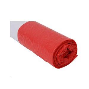 Plastic zak 70x110 cm rood
